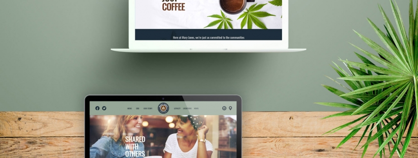 Mary-Jane's Coffee website preview visuals