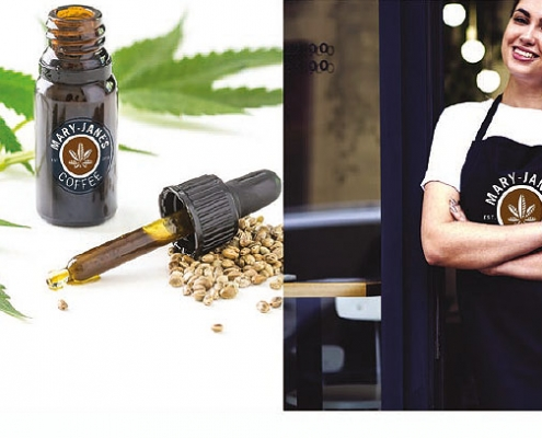 CBD coffee options from Mary-Jane's coffee in Bristol